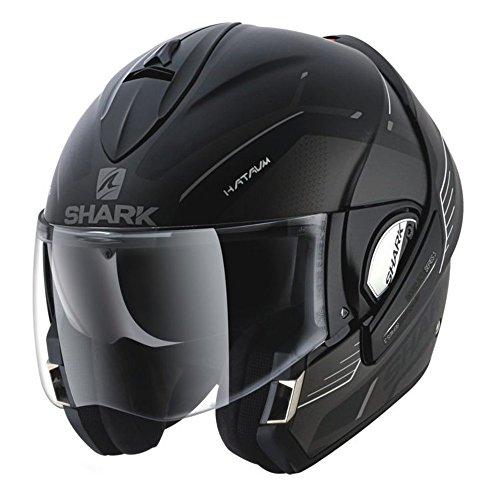 Shark Evoline Series 3 Hataum Matte Black Grey Modular Motorcycle Helmet Size Medium