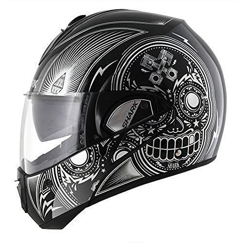 Shark Evoline Series 3 Mezcal Chrome Black Chrome Black Modular Motorcycle Helmet Size Large