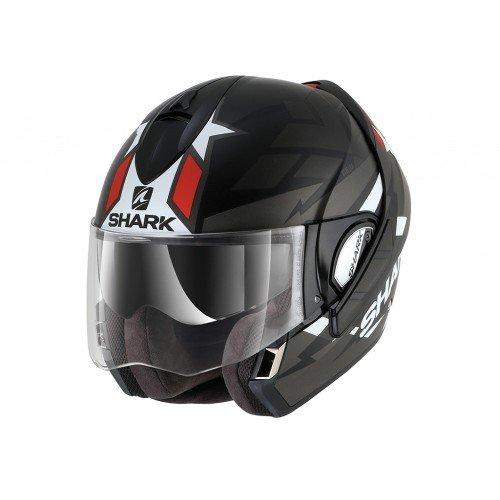 Shark Evoline Series 3 Strelka Matt Black Anthracite Red Helmet L