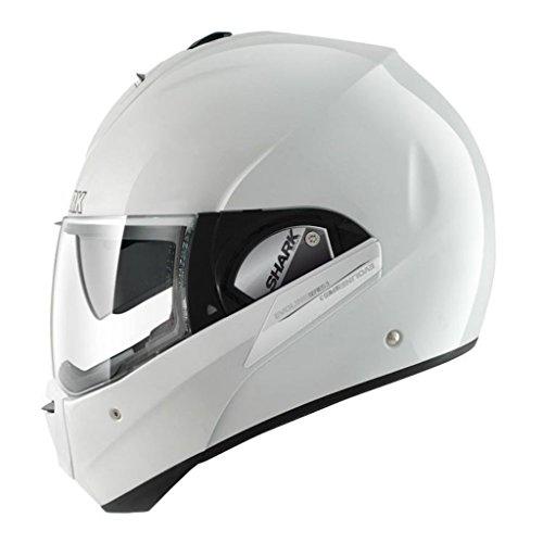 Shark Evoline Series 3 Uni Gloss White Modular Motorcycle Helmet Size Large