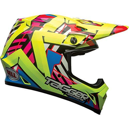 Bell MX-9 MIPS Tagger Double Trouble Off-Road lMotorcycle Helmet Gloss Hi-Viz Medium