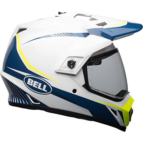 Bell MX-9 Torch Adventure MIPS Full-Face Motorcycle Helmet Gloss WhiteBlueYellow Medium