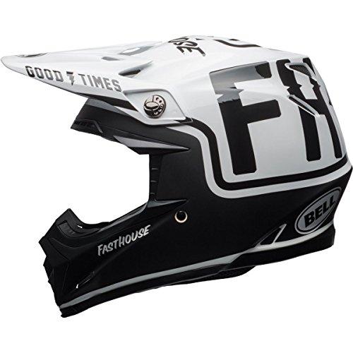 Bell Moto-9 MIPS Fast house Off-Road Motorcycle Helmet GlossMatte BlackWhite Medium