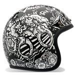 Bell RSD Trouble Custom 500 Harley Motorcycle Helmet - BlackWhite  2X-Large