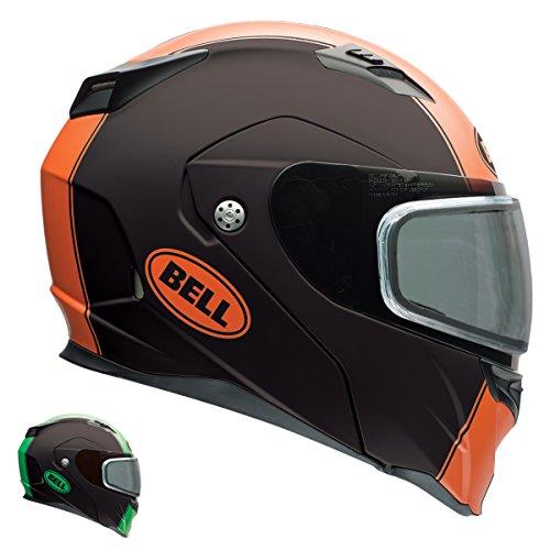 Bell Revolver Evo Rally Matte Green Modular Snowmobile Helmet with Dual Shield - Large