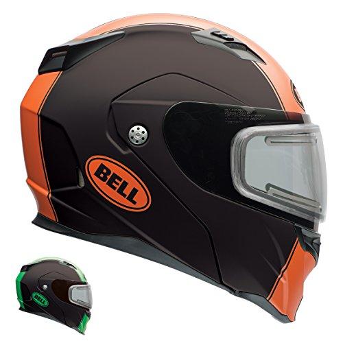 Bell Revolver Evo Rally Matte Orange Modular Snowmobile Helmet with Electric Sh - 2X-Large