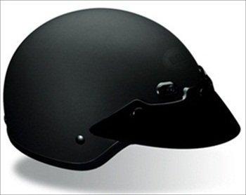 Bell Shorty Matte Black Half Helmet - Small