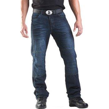 Drayko Drift Riding Jeans Mens Denim Street Bike Motorcycle Pants - Indigo  Size 32