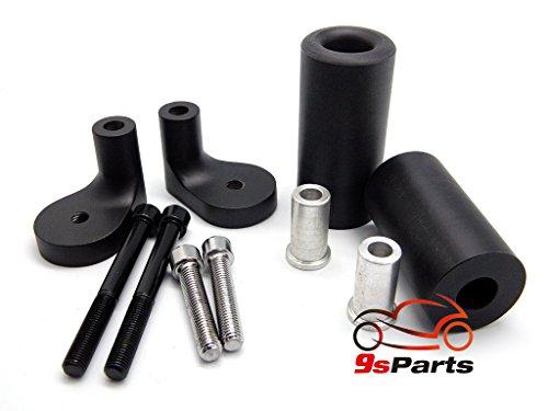 9sparts Black No Cut Frame Sliders Engine Crash Protector Guards For 1999 2000 Kawasaki ZRX1100 2001 2002 2003 2004 2005 Kawasaki ZRX1200R