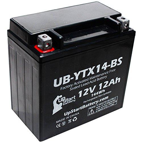 Replacement 2003 Kawasaki ZRX1200R 1200 CC Factory Activated Maintenance Free Motorcycle Battery - 12V 12AH UB-YTX14-BS