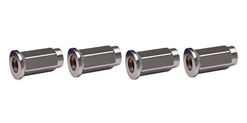 ITP 4pk Flat Base Chrome Lug Nut 10mm x 125mm Thread Pitch w14mm Head for Kawasaki MULE 550 1997-2004