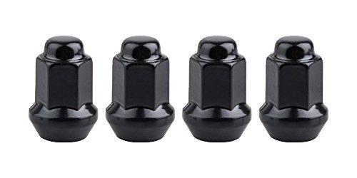 Motosport Alloys 4pk Tapered Lug Nut 10mm x 125mm Thread Pitch w14mm Head Black for Kawasaki MULE 550 1997-2004