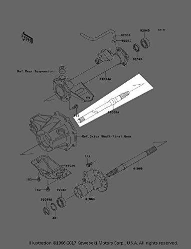 New OEM Kawasaki Mule 550 Rear Axle Drive Shaft RH 41068-1245