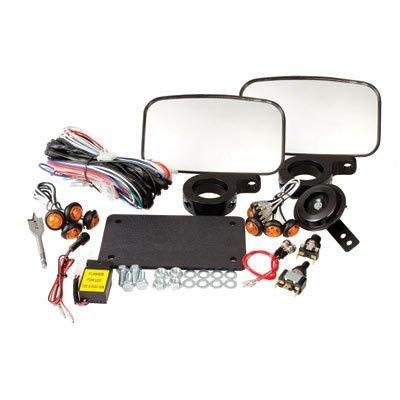 Tusk UTV Street Legal Kit- Lights Horn Turn Signals Mirrors License Plate - KAWASAKI MULE 550 600 610 2510 3000 3010 4000 4010 PRO