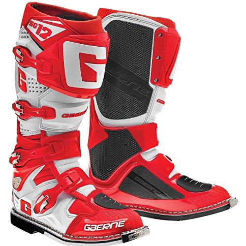 Gaerne SG12 Mens RedWhite Motocross Boots - 10