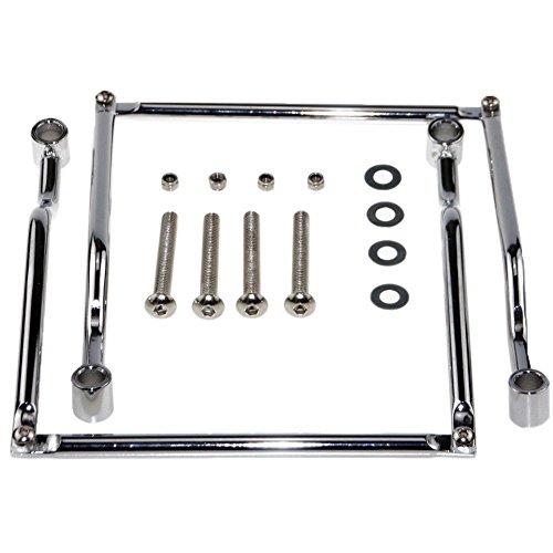 KUMEED Chrome Steel Saddlebag Support Brackets Guards for Honda Suzuki Yamaha Kawasaki