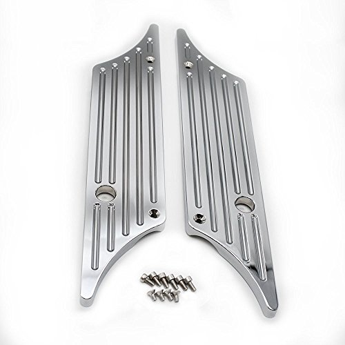 HTT Triple Chrome CNC Machined Hard Billet Aluminium Saddlebag Latch Covers For Harley Davidson Touring Models Hard Bags 1993-2013