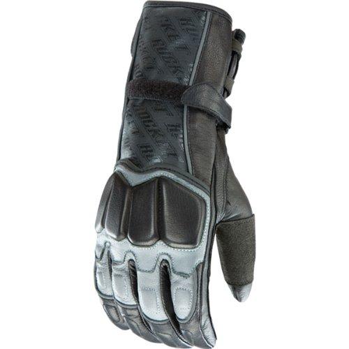 Joe Rocket Highside 2.0 Men's Leather Street Bike Racing Motorcycle Gloves - Gun Metal/black / X-large