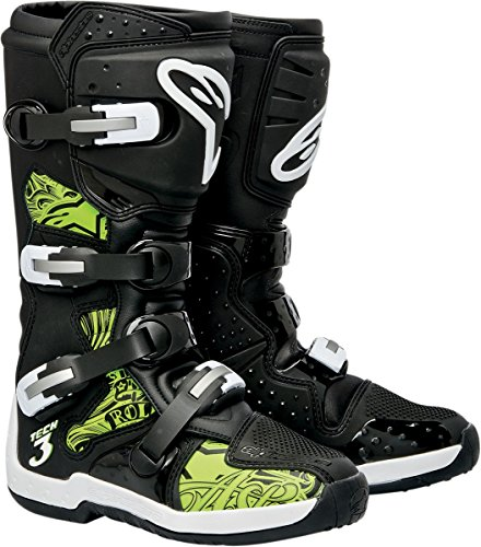 Alpinestars Tech 3 Chrome Boots - 5BlackGreen