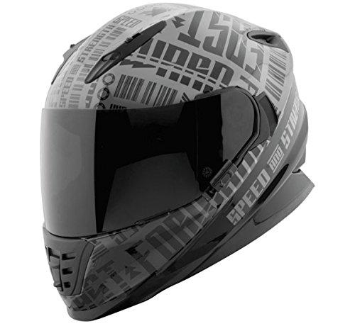 Speed and Strength Mens SS1310 Fast Forward Street Motorcycle Helmet - GreyBlack  Medium