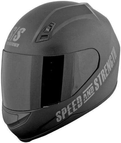 Speed and Strength SS700 Go For Broke Motorcycle Helmet - Black Medium