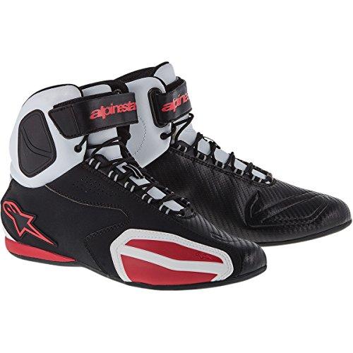 Alpinestars Faster Mens Street Motorcycle Shoes - BlackWhiteRed  115