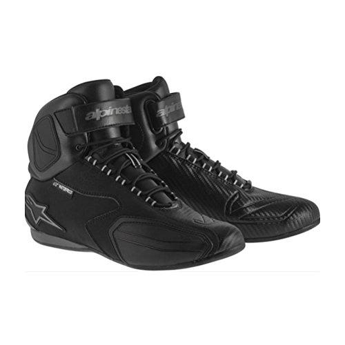 Alpinestars Faster Mens Waterproof Street Motorcycle Shoes - BlackGray  75