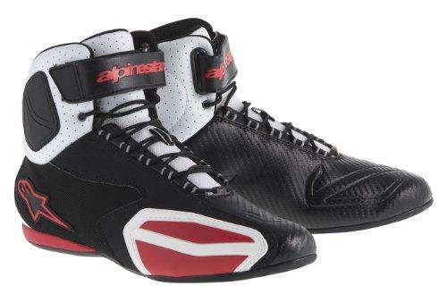 Alpinestars Faster Vented Shoes BlackWhiteRed 105