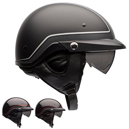Bell Pit Boss Unisex-Adult Half Street Helmet Pin Dark RedBlack Medium DOT-Certified