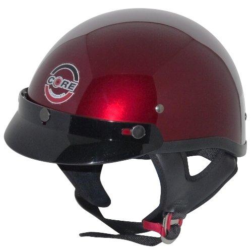 Core Cruiser Shorty Half Helmet Wine Medium