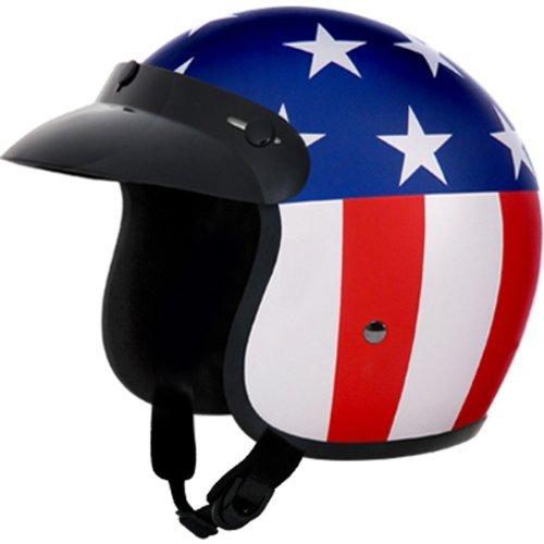 Daytona Captain America DOT Approved 34 Shell Cruiser Motorcycle Helmet - Medium