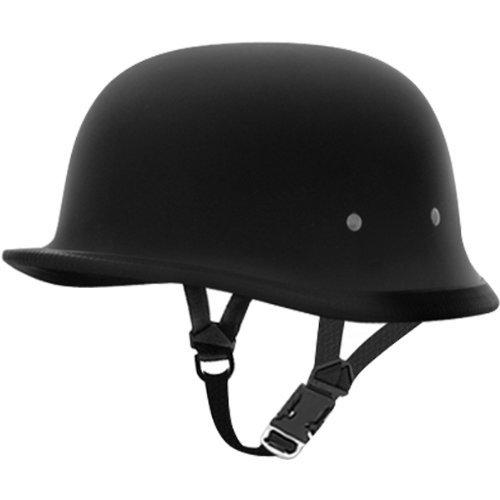 Daytona German BasicCustom Novelty Cruiser Motorcycle Helmet - Dull Black  Medium