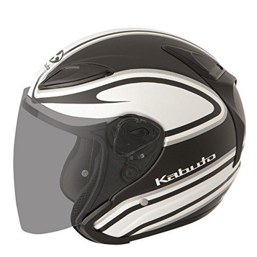 Kabuto Staid Adult Avand II Cruiser Motorcycle Helmet - WhiteBlack  Medium