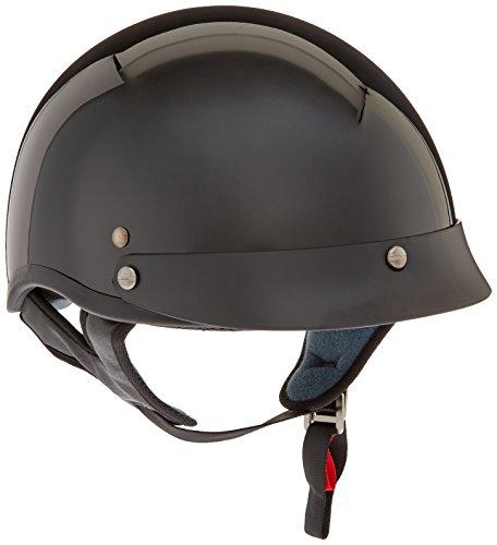 VCAN V531 Cruiser Half Helmet Solid Gloss Black Large