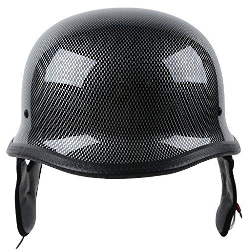 XFMT Dot German Style Carbon Fiber Motorcycle Cruiser Chopper Half Helmet M