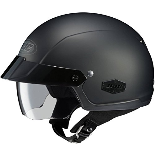 HJC Solid IS-Cruiser Half 12 Shell Motorcycle Helmet - Matte Black  Large