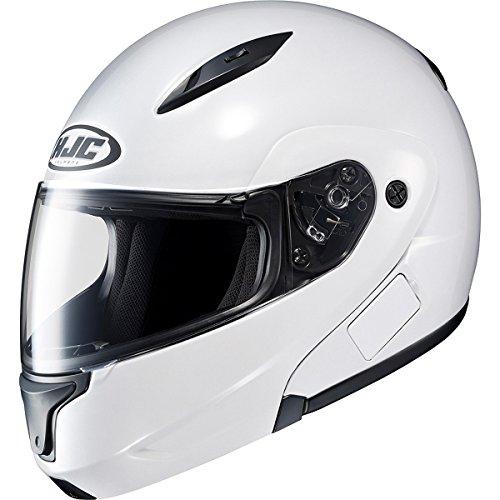 HJC Solid Mens CL-MAX II Bluetooth Sports Bike Motorcycle Helmet - White  Medium