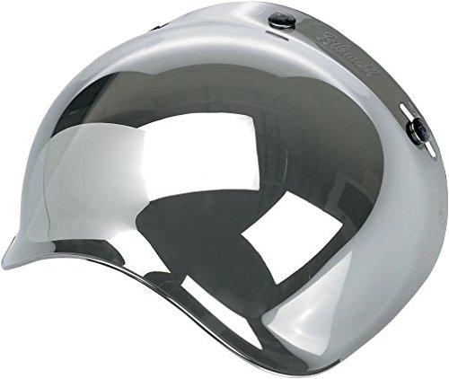 Biltwell Bubble Shield Visor for 3-snap Helmets - Chrome Mirror