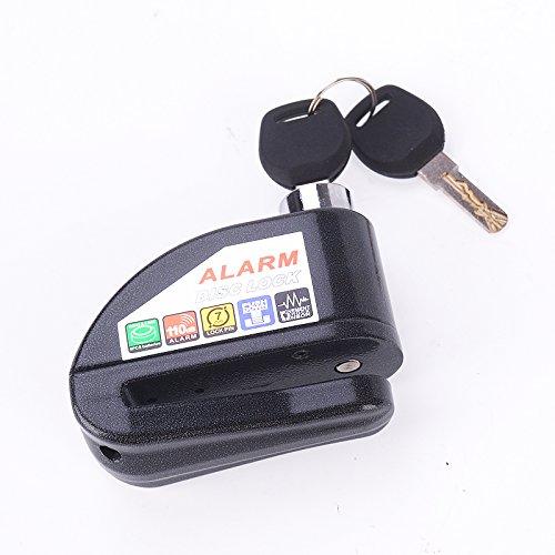 Iztoss Motorcycle security Disc Lock Anti Thief throttle Alarm chain lock