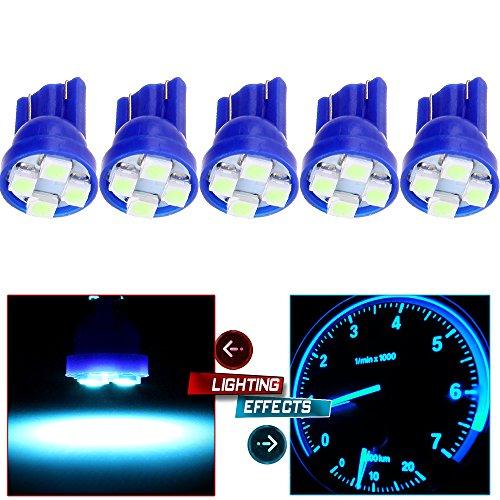 CCIYU 5pcs T10 3528-SMD LED Bulb Dome Light Map Light Mirror Vanity Sunvisor Light for 2001-2007 Toyota Highlander