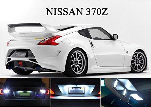 LED light for 2009 - 2014 Nissan 370Z Xenon White LED Package for License Plate  VanitySun Visor lights 4 Pieces