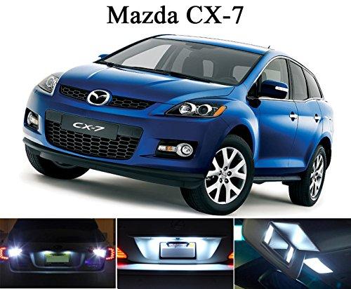 LED lights for 2013 - 2014 Mazda CX-7 Xenon White LED Package for License Plate  VanitySun Visor lights 4 Pieces