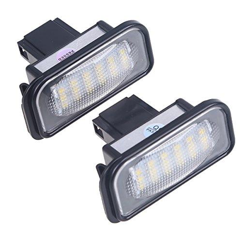 POSSBAY 2Pcs LED Car Auto Vanity Mirror Light Sun Visor Lamps for Benz W203 4D