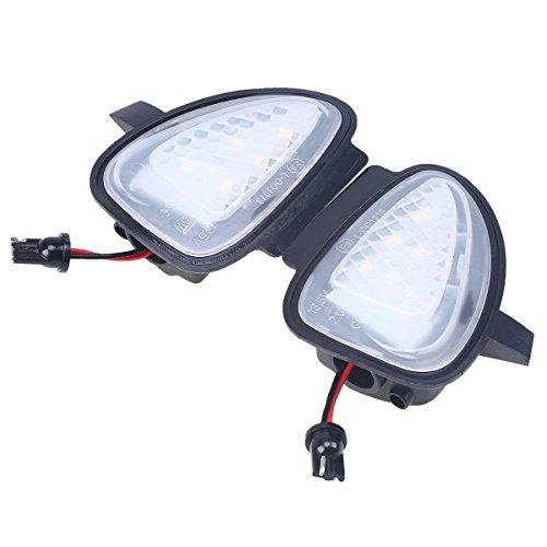 POSSBAY 2Pcs LED Car Auto Vanity Mirror Light Sun Visor Lamps for VW Golf 6