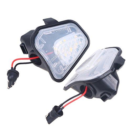 POSSBAY 2Pcs LED Car Auto Vanity Mirror Light Sun Visor Lamps for VW Passat