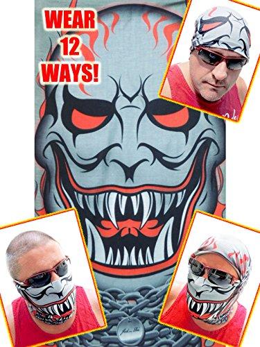 12-in-1 Headband - VAMPIRE JOKER Versatile Sports Casual Headwear - Wear as a Bandana Neck Gaiter Balaclava Helmet Liner Halloween Mask MoreHigh Performance Moisture Microfiber