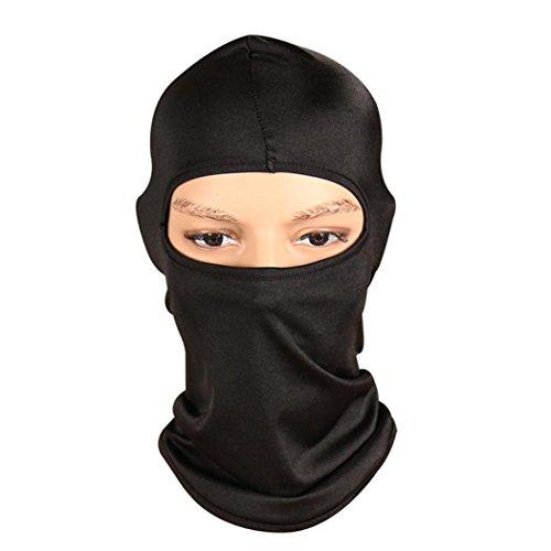 Unisex Balaclava Helmet Bolayu Neck Ultra Thin Outdoor Ski Motorcycle Cycling Balaclava Full Face Mask Black