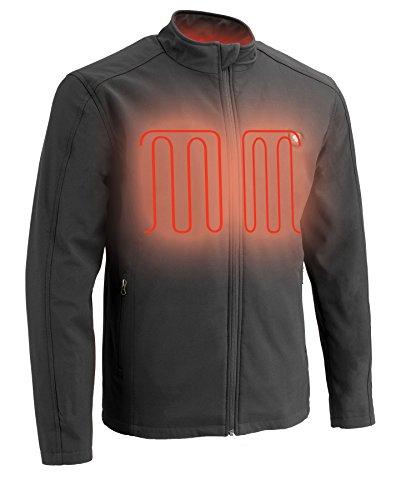 Milwaukee Performance Mens Zipper Front Heated Soft Shell Jacket Black MD