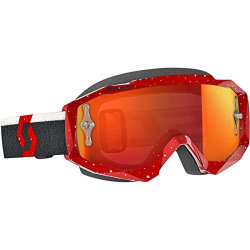 Scott Hustle Adult Off-Road Motorcycle Goggles - RedWhiteOrange ChromeOne Size