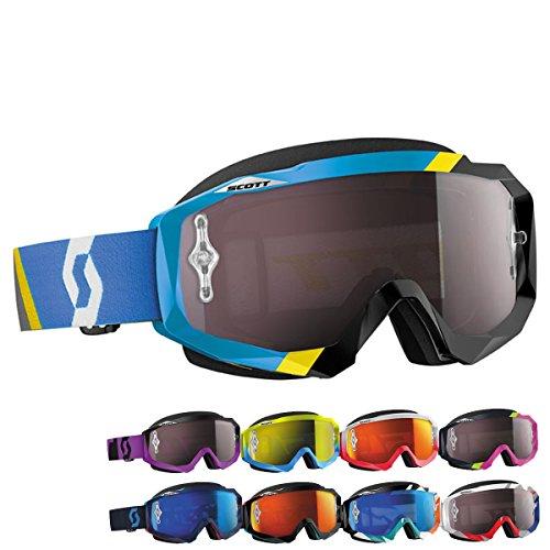 Scott Hustle Cracked Goggles - BlueRedSilver ChromeOne Size